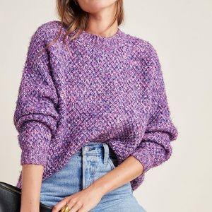 Anthropologie Metallic Sweater